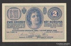 """2 korona 1914. Vékony """"C"""" !!  UNC !!!"""