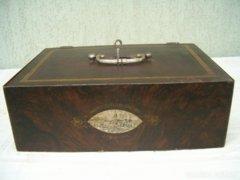 Antik J.PROKOP, pénz,érték kazetta,doboz. Graz 1890