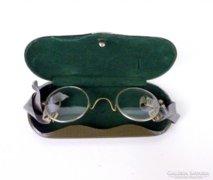 Régi katonai alpakka  keretes optikai szemüveg ,okuláré!