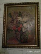 Hadzsy Olga Nemzeti szalonos csendélet festmény