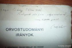 Petrik Ottó Orvostudományi irományok dedikált