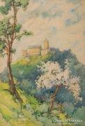 Barna Mária: Wartburg várának látképe