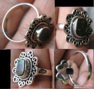 925 ezüst gyűrű, 19/59,7 mm, ammolite , zöldes fényjátékkal