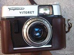 Akció !Voigtländer Vitoret fényképezőgép+bőrtok gyűjtőknek