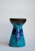 Retro zsűrizett iparművész kerámia váza Bod Éva