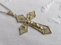 Gyönyörű, régi filigran ezüst medál