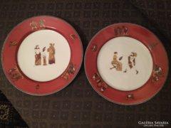 Korai Fischer Ignác Ritka tányérok - 1870-es évek