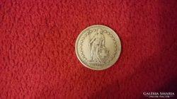 Ezüst Svájci 2 frank. 1920