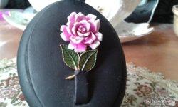 Csodaszép rózsás bross