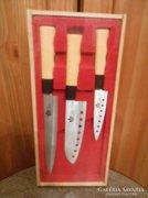 Japán konyhakés készlet/szett fa dobozban 3 részes
