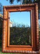 Faragott tükörkeret-képkeret restaurált 1900-as évek Akció !