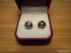 Art deco ezüst fülbevaló - stekker