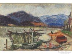 Luzsicza Lajos : Száradó halászháló 1959