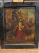 19. századi szentkép olaj festmény