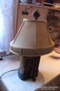 Antik fa talpú asztali lámpa eladó!