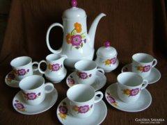 6 személyes Bavaria virág mintás komplett teás készlet