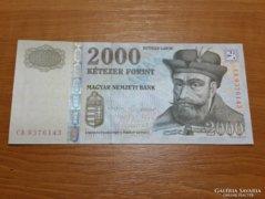 *** UNC 2 aláírásos MATOLCSY 2000 forint***