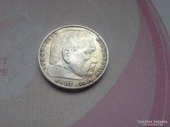 III. birodalom horogkeresztes ezüst 2 márka