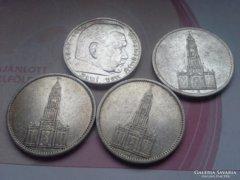 III. birodalom 4 db  ezüst 5 márka egyben