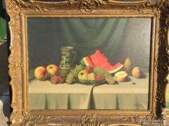 Nándory Sándor / Asztali csendélet gyümölcsökkal
