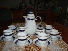 Hollóházi 6 sz. kávéskészlet