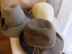 Régi női kalap - 3 db-os csomag