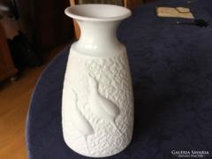 Arzberg porcelán váza, fehér, 20 cm