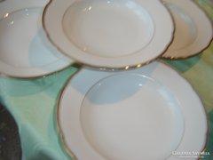 Aranyozott bavaria mély tányér 4 darab