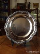 Barokk Bordűrös Ezüst tálca 1113g