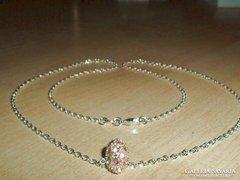 Swarovszki kr.Ezüst Gyöngy 925-ös ezüst nyaklánc
