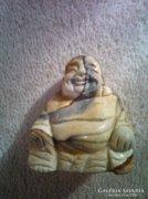 Szerencsét jólét hozó Buddha képjáspisból faragva