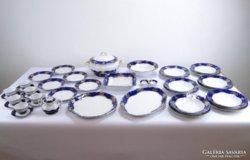 0E122 Zsolnay pompadour porcelán étkészlet 37 db