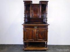 0E202 Antik bécsi barokk kistálaló szekrény 1850