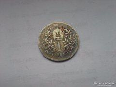 1899 ezüst 1 korona szép patinás,ritkább db