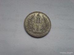 1901 ezüst 1 korona patina