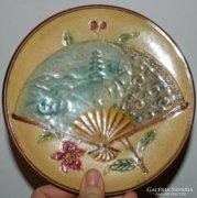Antik majolika dísztál - tányér