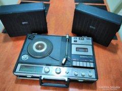 Sanyo stereo music center rádió kazetta lemezlejátszó magnó
