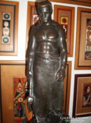 ALFONSO CANCIANI art deco bronz szobra/ Ipartörténeti.../