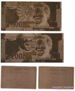 Dél-Afrika 100,200 Rand, 24 k. aranyfüst + certi