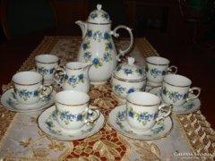 Hollóházi 6 sz. szedres kávéskészlet