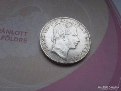 Ezüst 1 Florin 1858 szép ritkább
