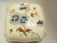 Zsolnay Porcelán Búzavirág mintás Bonbonier (Gy-BI 22304)