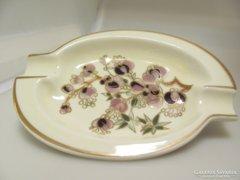 Zsolnay Porcelán Ovális virágos Hamutál (Gy BI 22289)