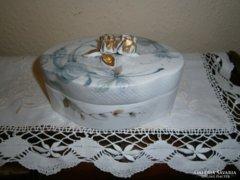 Hollóházi stúdió porcelán kézi festett cukortartó(VAS jel)