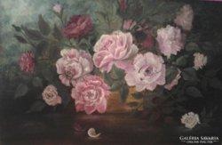 Rózsák - rózsa, csendélet, festmény