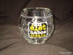 Labda alakú üveg korsó 3.5 dl