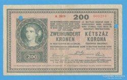 200 korona 1918. (érvénytelenített)