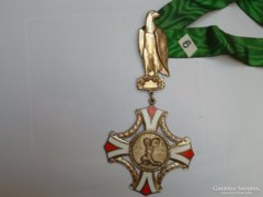 Hatalmas jelzett osztrák zománcos kitüntetés