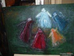Olajvászon festmény közvetlenül művésztől_Tündék tánca