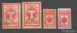 1918.Tirol, Paketkontrolmarke, ritka.